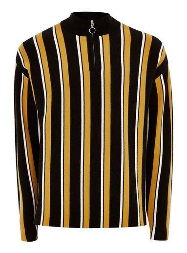 a143126bb3 Black Long Sleeve Zip Polo Sweater - Shirts & Tanks - Clothing - TOPMAN USA