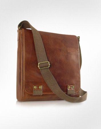 28251dc71175 Chiarugi Handmade Brown Genuine Leather Crossbody Bag
