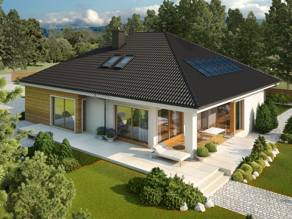 Today we propose a simple and elegant model of a house with modern interior sketch but