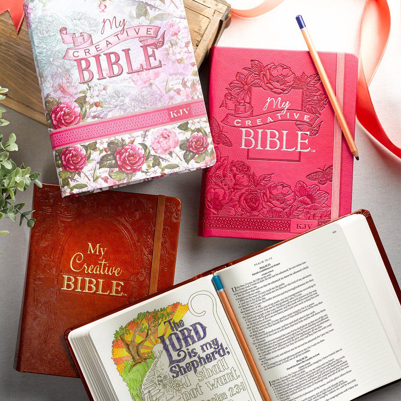 My Creative Bible KJV: Tan Hardcover Bible for Creative Journaling: Christian Art Gifts' Brad Miedema & Allison Sowers: 9781432115340: Amazon.com: Books