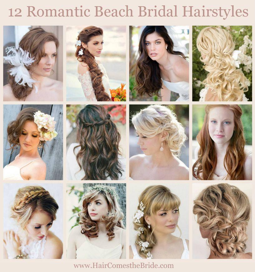 12 Romantic Beach Bridal Hairstyles Bridesmaid Hair Long Wedding Hair Colors Bridesmaid Hair Short