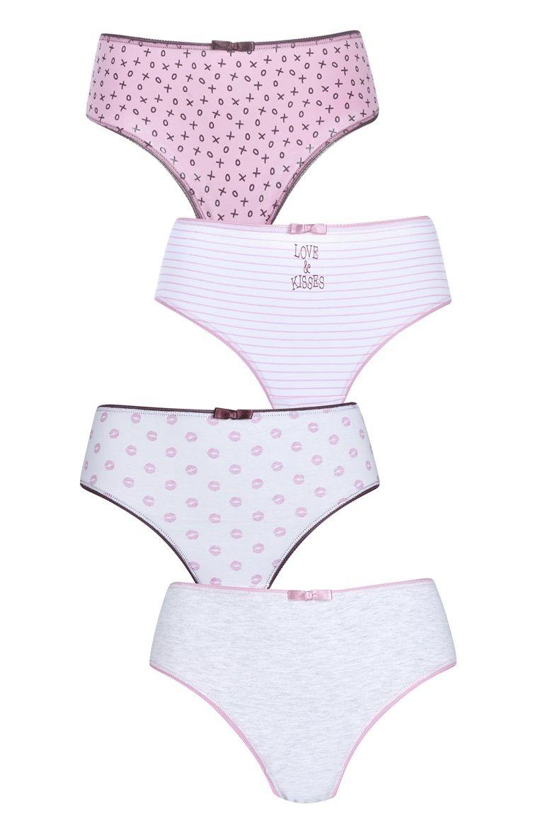 Primark kids Girls Hot Pink Boxers Shorts Knickers Underwear
