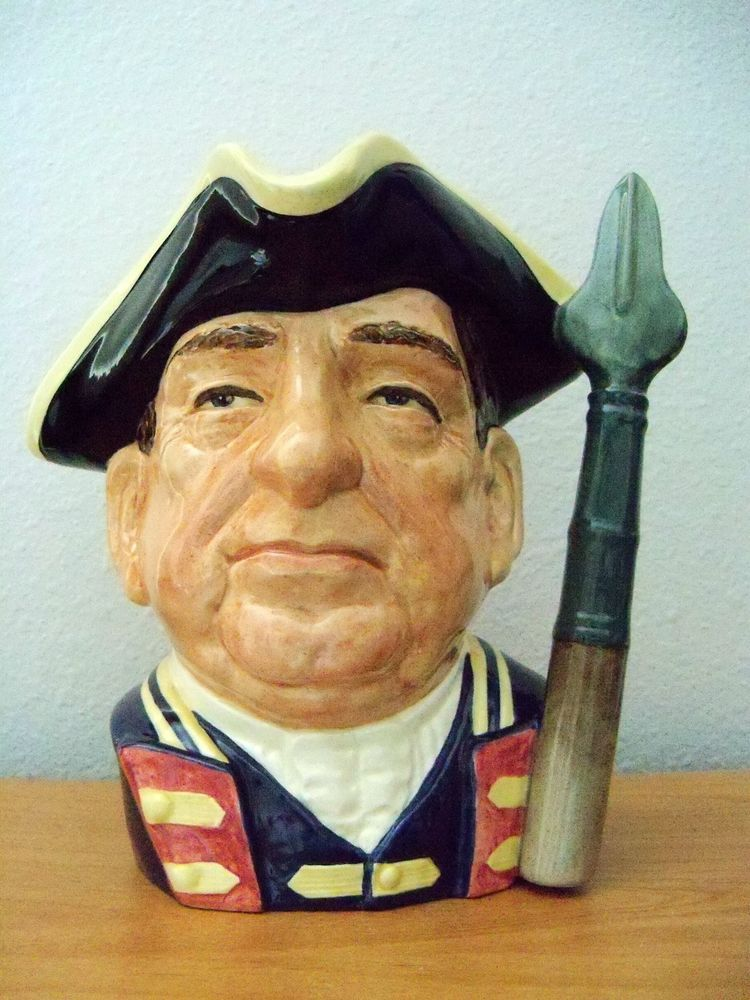 Royal Doulton Character Jug  GUARDSMAN FROM WILLIAMSBURG   LARGE  D6568