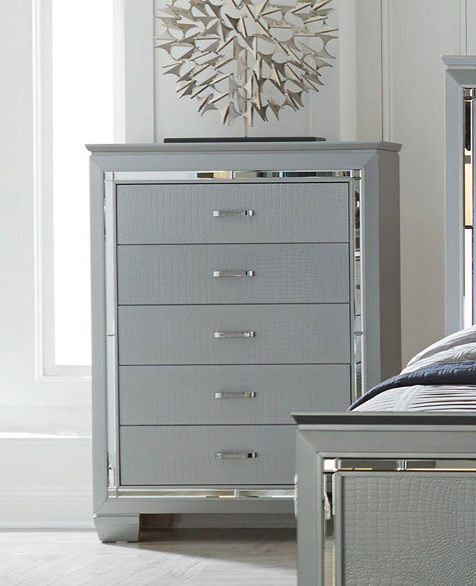 Homelegance Allura Bedroom Set With Led Lighting Silver B1916 1