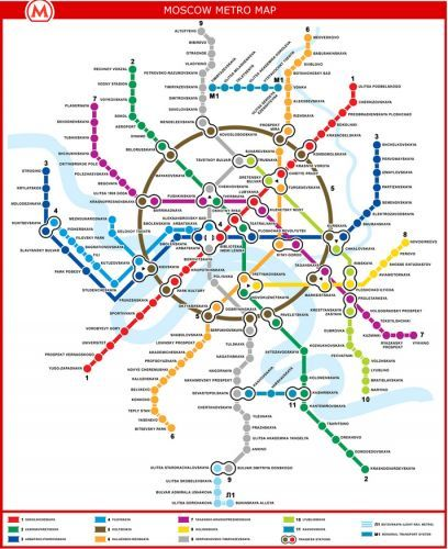 The Worlds Best Subway Maps  Moscow Subway map and Moscow metro