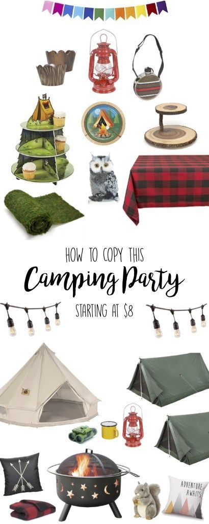 Camping Party – Birthday Party Theme Ideas