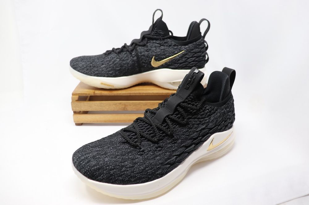 ff259eeb6d5269 Nike Lebron XV 15 Low Basketball Shoes Black Gold White AO1755-001 Men s  NEW  fashion  clothing  shoes  accessories  mensshoes  athleticshoes (ebay  link)