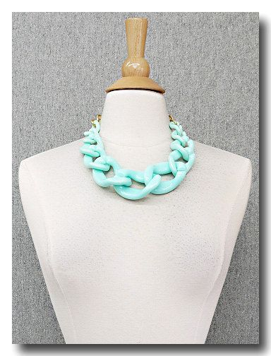 Mink Link Resin Large Chain Statement by leeleeaccessories on Etsy, $20.00