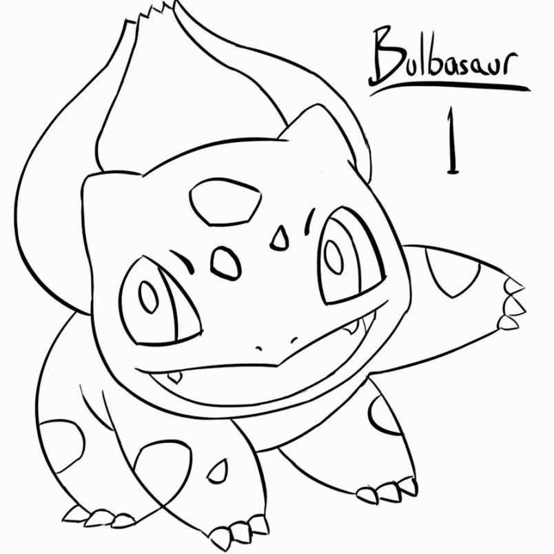 Bulbasaur Coloring Pages Easy Pokemon Drawings Pokemon Coloring Pages Pokemon Coloring