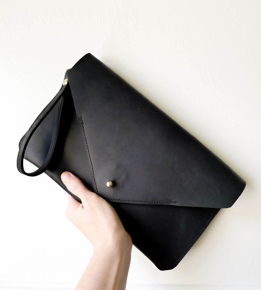 Leather Envelope Clutch Bag | Envelope clutch, Clutch bags and ...