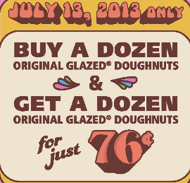 Krispy Kreme Buy 1 Dozen Get The Second For 76 Cents