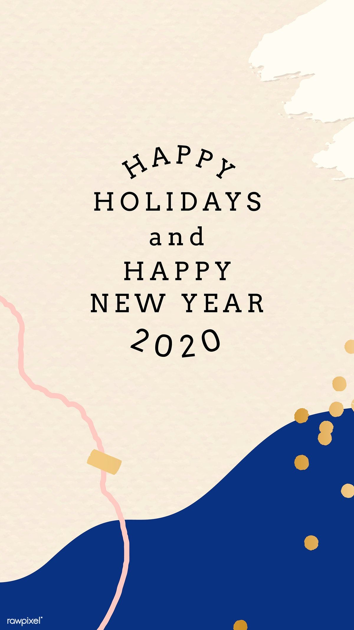 Download premium vector of Happy New Year 2020 Memphis design mobile phone #memphisdesign