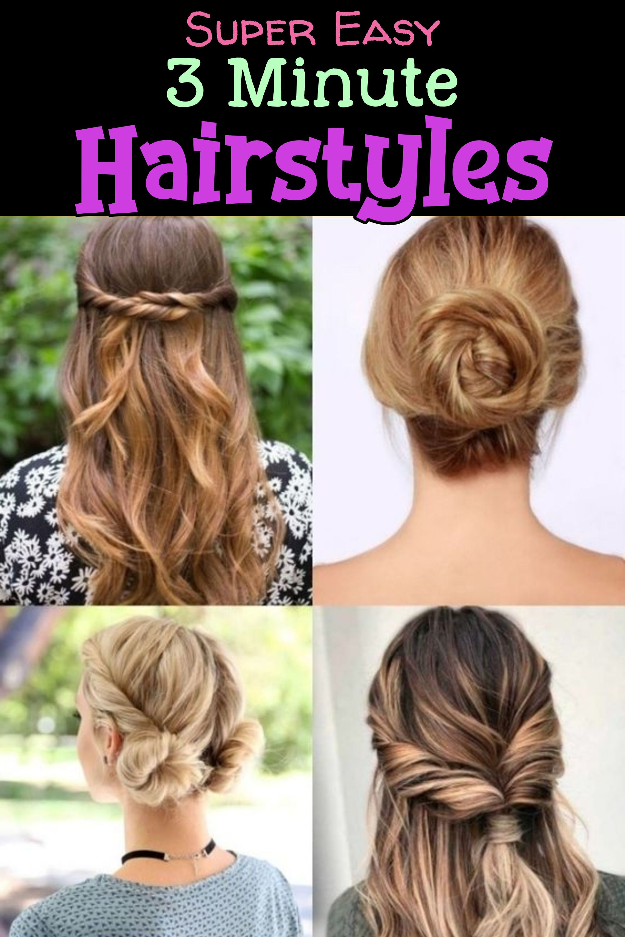 10 Easy Lazy Girl Hairstyle Ideas Step By Step Video Tutorials For Lazy Day Running Late Quick Hairstyles Clever Diy Ideas Lazy Girl Hairstyles Easy Everyday Hairstyles Running Late Hairstyles