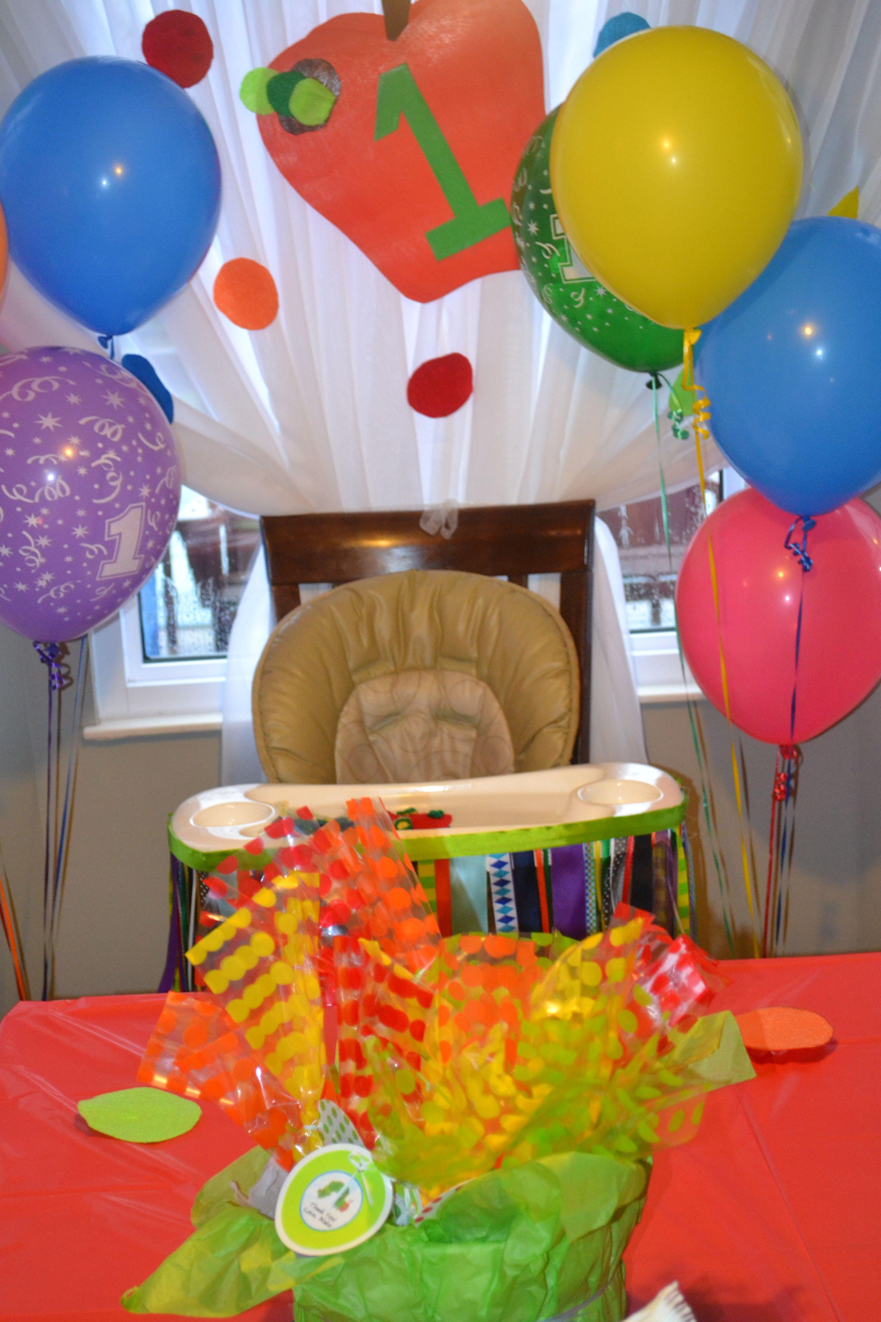 Hungry Caterpillar Birthday Decorations