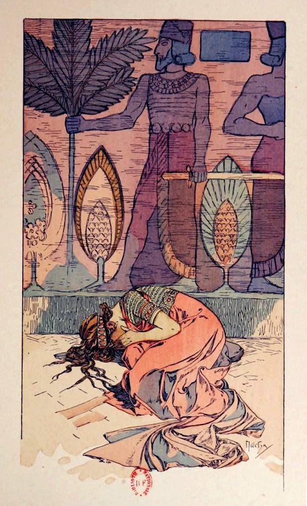 'Rama: poème dramatique en 3 actes' by Paul Vérola; illustrations by Alphonse Mucha. Published 1898 by the Bibliothèque artistique et littéraire (Paris).