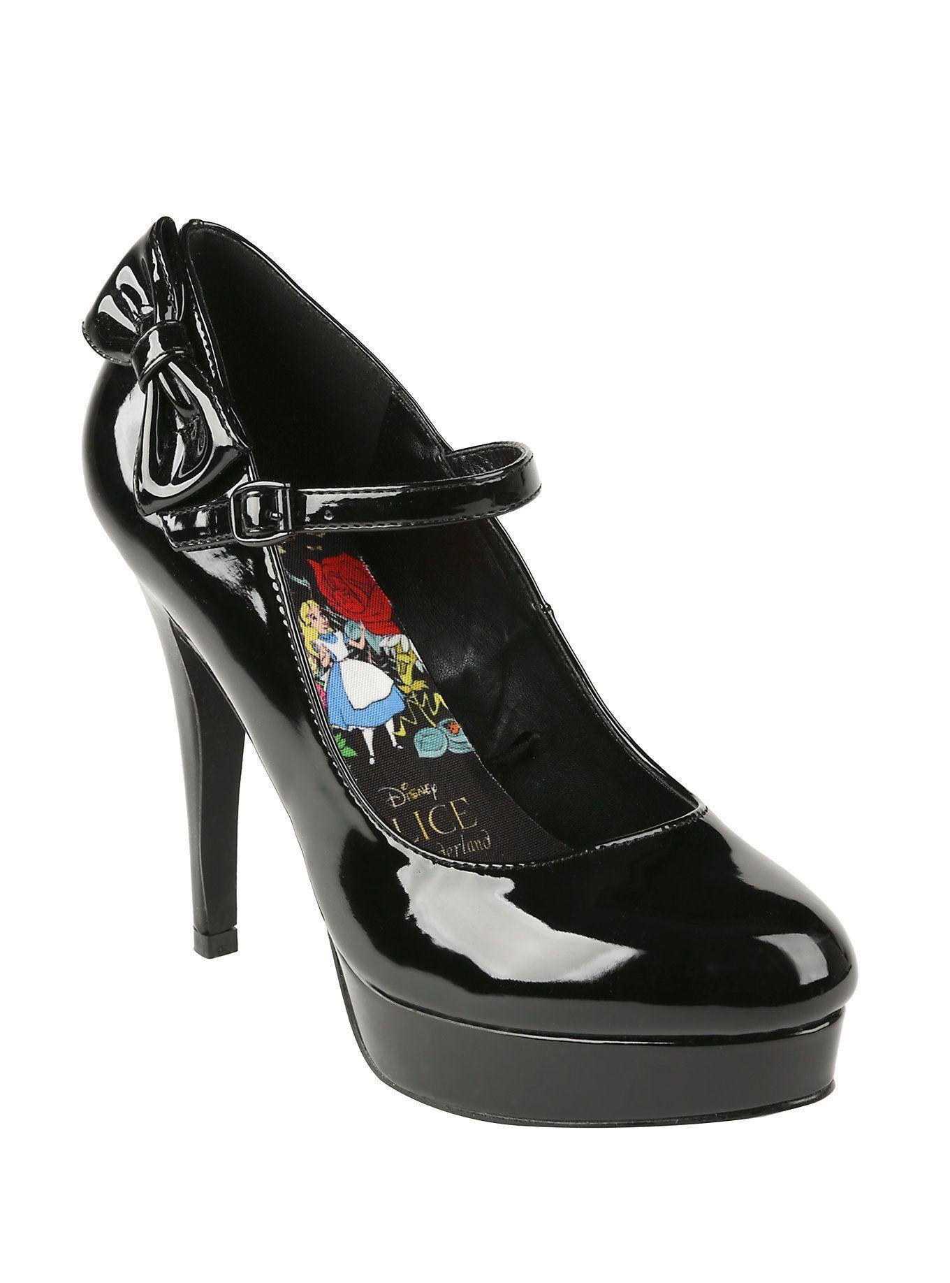 1af2e3ddc0e Disney Alice In Wonderland Black Mary Jane Heel