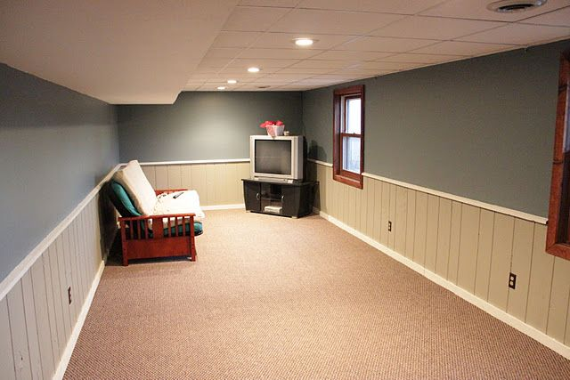 Painted The Basement Paneling Basement Home Decor