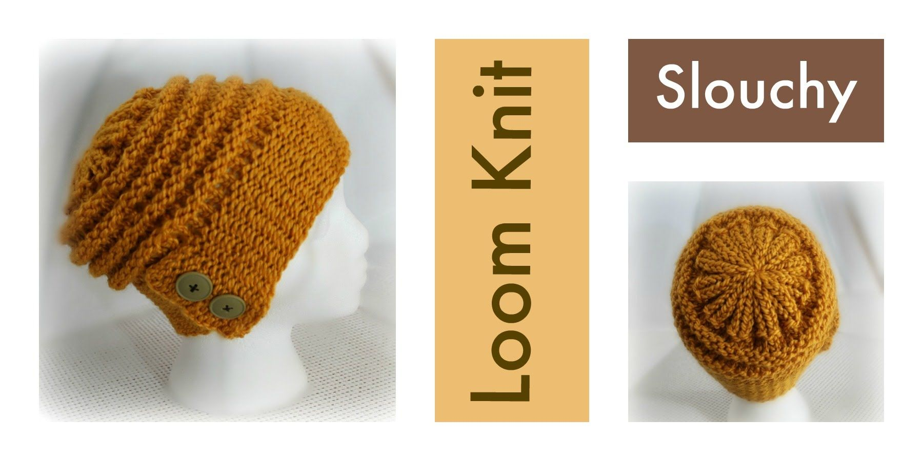 LOOM KNITTING Slouchy Hat with Flap-Over Brim | KNITTING | Pinterest ...