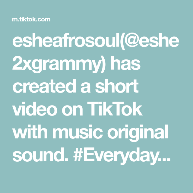 Esheafrosoul Eshe2xgrammy Has Created A Short Video On Tiktok With Music Original Sound Everydaypeoplechallenge D The Originals Hydrating Lip Gloss Songs