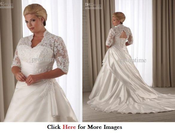 Wedding dresses plus size with jacket wedding dress for Off the rack wedding dresses near me