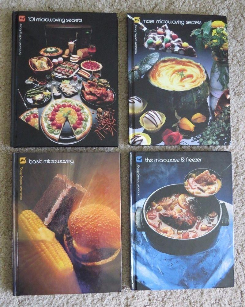 4 Lot Vtg Recipe Cookbook Hc Basic Secrets Freezer Browning Microwave Cooking