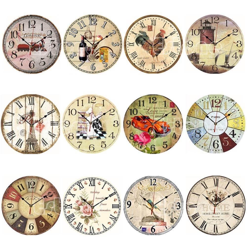 vintage wooden wall clocks large wall clock kitchen on wall clocks id=36922