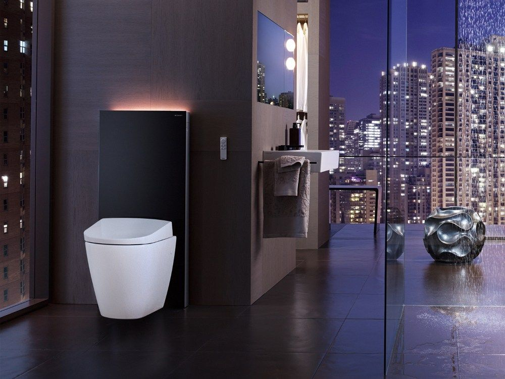 Glass And Aluminium Sanitary Module Monolith Plus By Geberit Italia Design Daniel Iranyi Tom Staubli Bathroom Design Inspiration Smart Toilet Bathroom Design