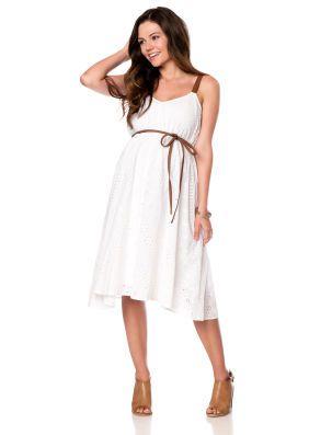 e304dce6efa6a Motherhood Maternity Jessica Simpson Petite Sleeveless Empire Waist  Maternity Dress