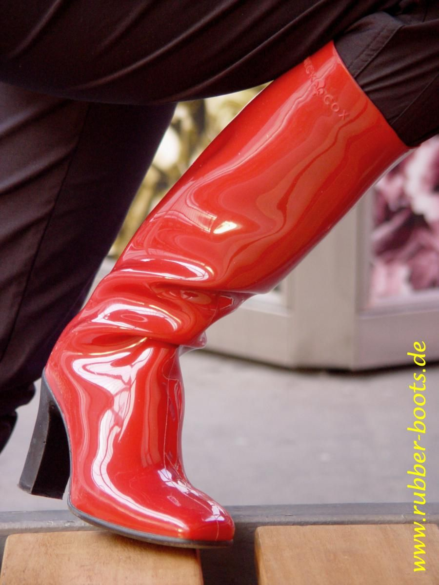 Classic Heeled Rubber Boots Fashion Wellies Pinterest