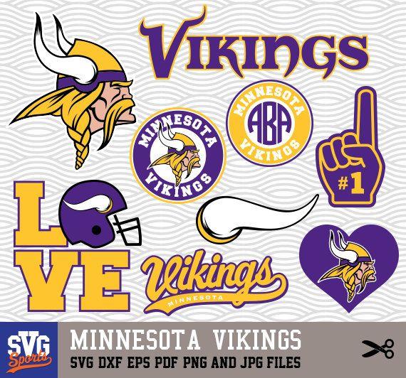 Minnesota Vikings Svg Logos Monogram Silhouette Cricut Cameo