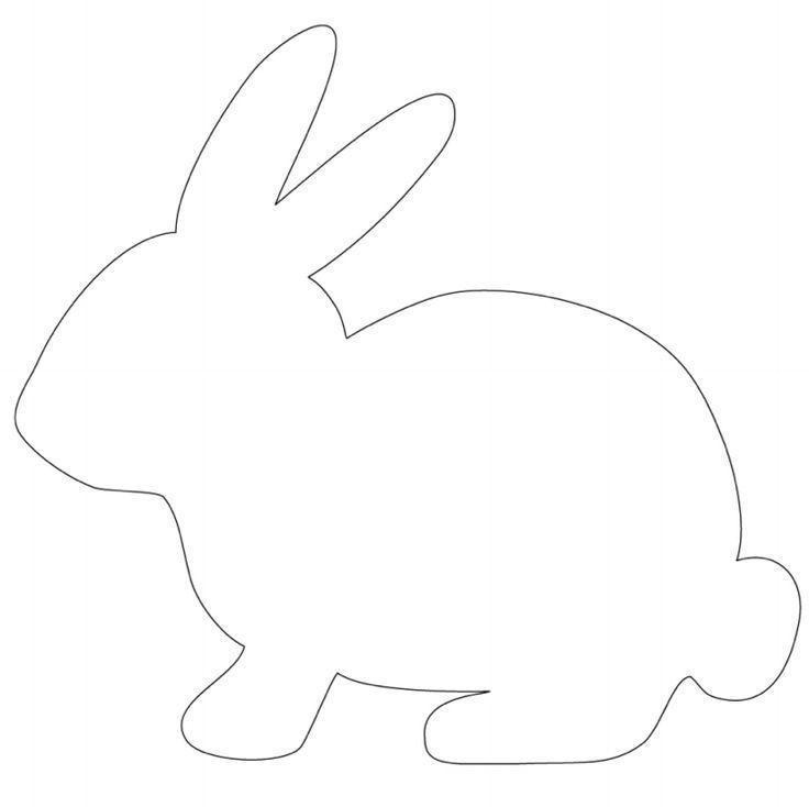 Картинка шаблон зайца