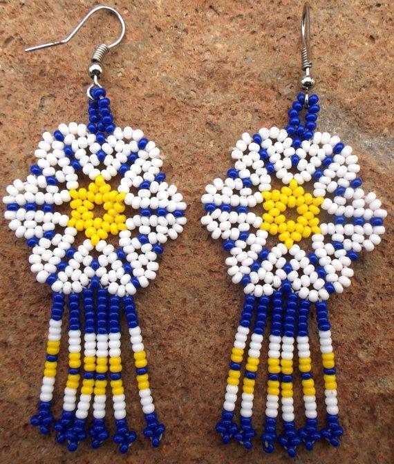 Mexican Huichol Earrings