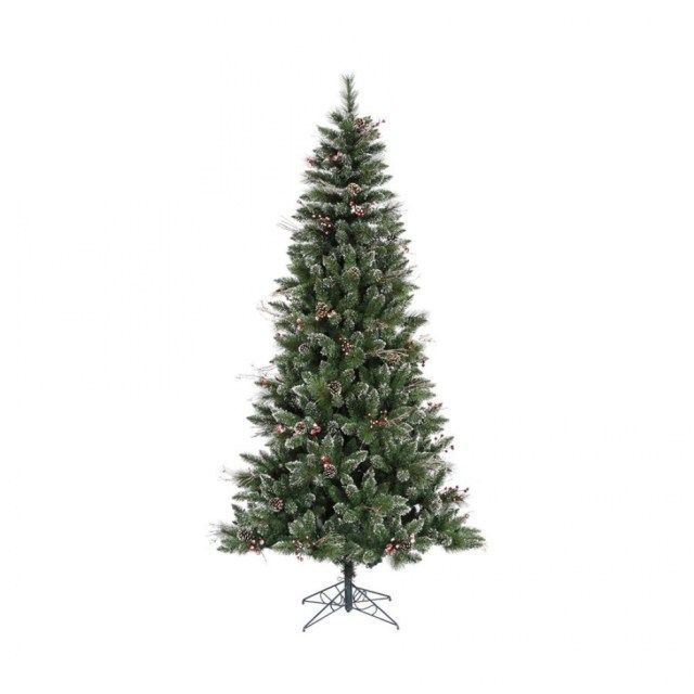 shop vickerman 7 ft winterberry flocked artificial christmas tree for lowes christmas trees - Lowes White Christmas Tree