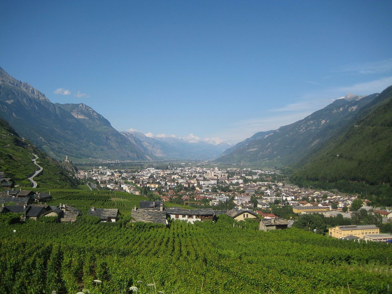 Martigny Is The Capital Of The French Speaking District Of