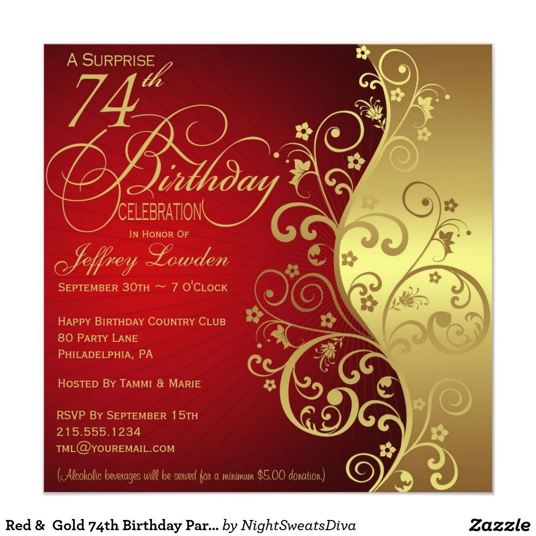 Create Your Own Invitation Zazzle Com 80th Birthday Invitations 60th Birthday Invitations 50th Birthday Invitations