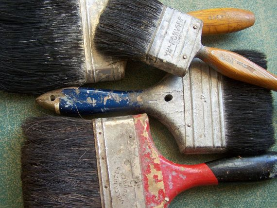 Vintage/Antique  Group of Old Chippy Paintbrushes by ShaneLilyRain