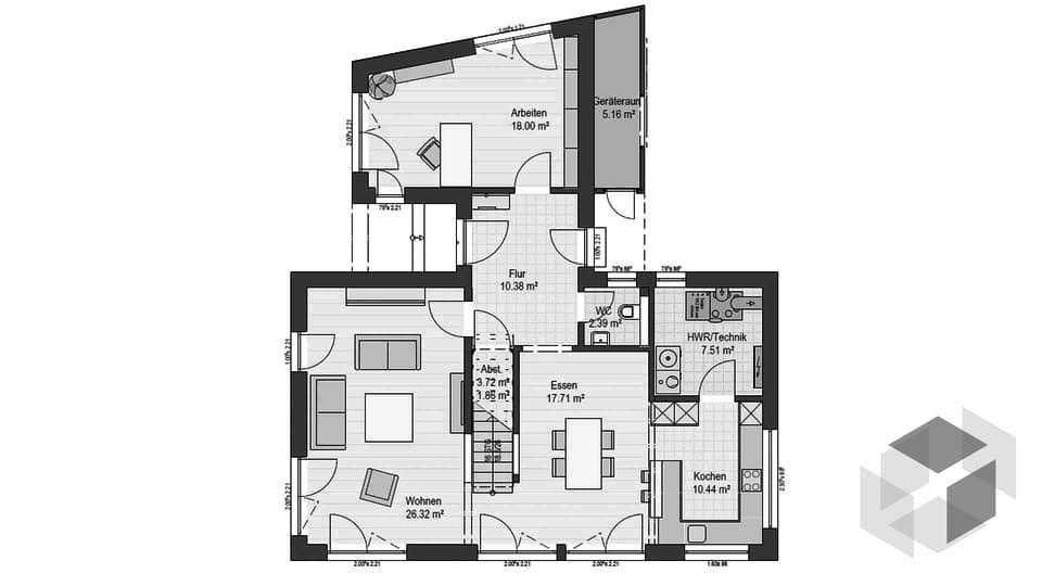 die besten 25 haas haus ideen auf pinterest satteldach modernes spielhaus und duplex haus design. Black Bedroom Furniture Sets. Home Design Ideas