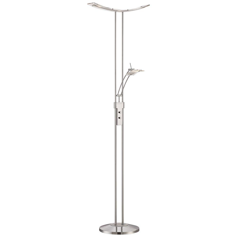 Possini Euro Design Vicina Chrome Led Torchiere Floor Lamp