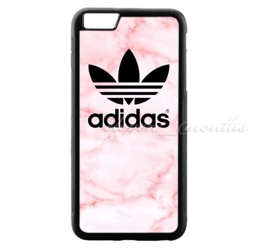 Adidas Pink Marble Black Logo For Iphone 8 8 7 7 6 6 6s 6s Hard Plastic Case Adidas Phone Case Top Iphone Cases Iphone Case Brands