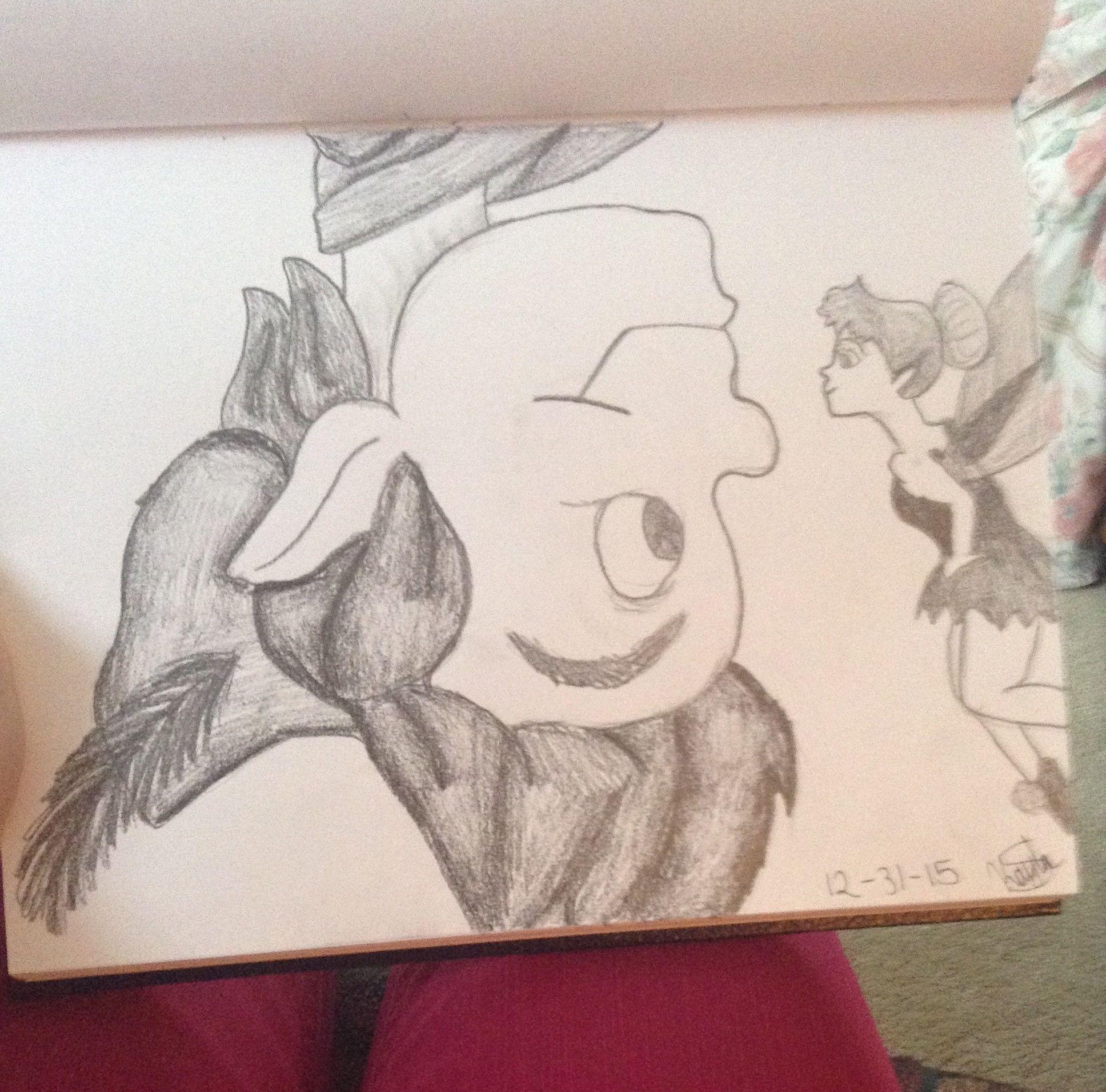 Upside Down Art Peter Pan Hanging Upside Down And Tink My Art Pinterest