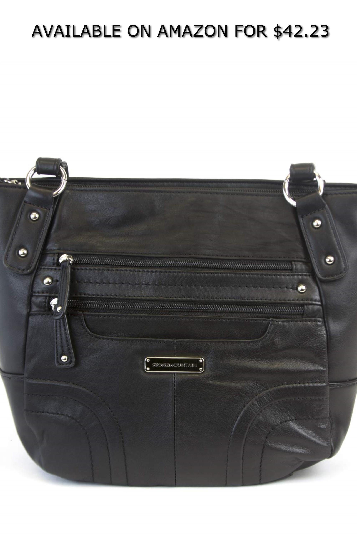43d6409279b0 Black Leather Handbags Amazon