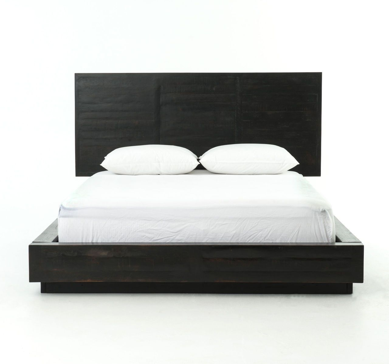 Modern Black Wood Queen Size Platform Bed Frame Matt S