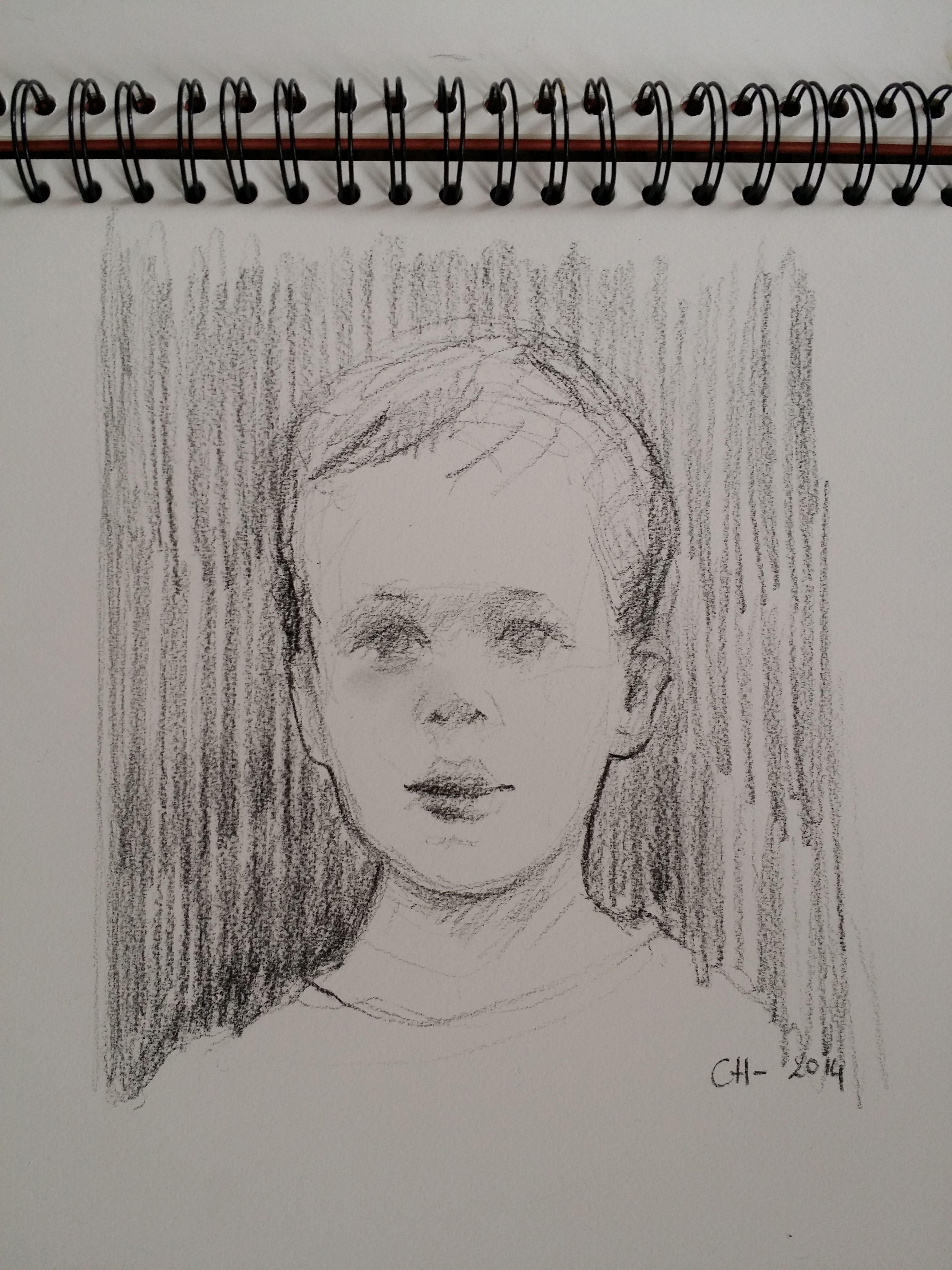 portrait - charcoal http/:www.catherineharley.com