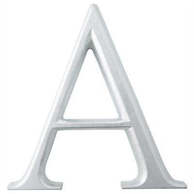 Silver Letter A Wall Art From Chapters