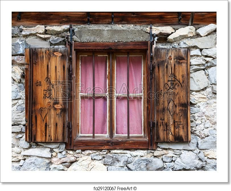 Free Art Print Of Rustic Window In A Alpine Hut Dekor