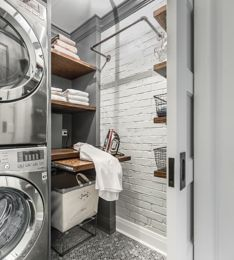 Laundry rooms stacked washer and dryer design photos ideas inspiration amazing gallery of interior decorating also best new house images in home designs rh pinterest