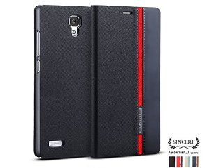 High quality premium colourful leather flip cover case for Micromax Yureka Yu   Black