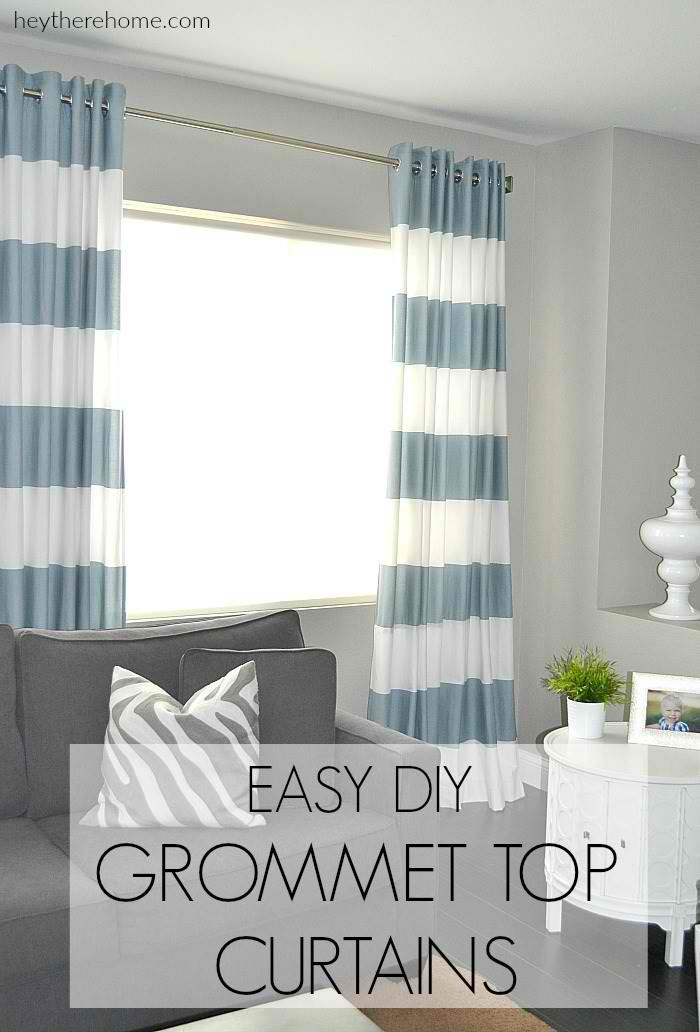 Crate and Barrel Inspired Grommet Top Curtains | 10 Awesome Crate and Barrel Hacks