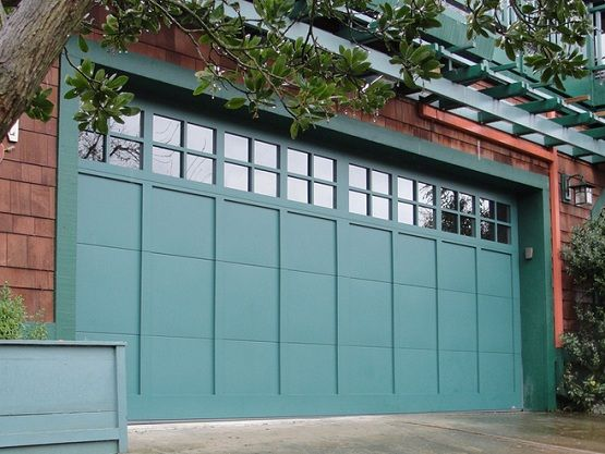 12 Foot Garage Door With Glass Window And Stylish Design Home Interiors Garage Doors Best Garage Doors Garage Door Colors
