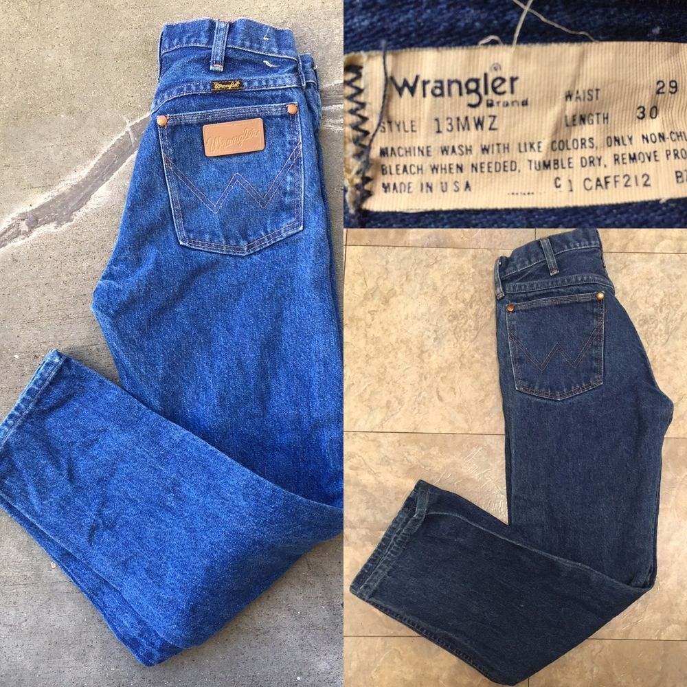 Waist 30  Women Black Jeans  Vintage Denim WRANGLER Jeans  Made in USA Waist 29